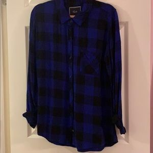 Rails Flannel in Buffalo Check Cobalt and Black